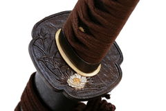 Tsuba: handvakt av det japanska svärdet Royaltyfri Bild