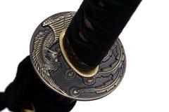 Tsuba: handvakt av det japanska svärdet Royaltyfria Bilder