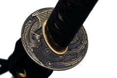 Tsuba: handvakt av det japanska svärdet Royaltyfri Foto