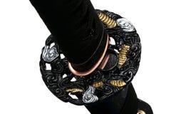 Tsuba: handwacht van Japans zwaard Royalty-vrije Stock Afbeeldingen