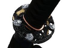 Tsuba: protetor da mão da espada japonesa Fotografia de Stock Royalty Free