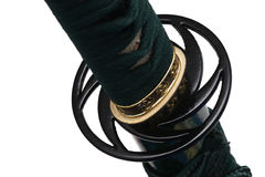 Tsuba: protetor da mão da espada japonesa Foto de Stock