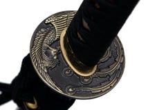 Tsuba: protetor da mão da espada japonesa Foto de Stock Royalty Free