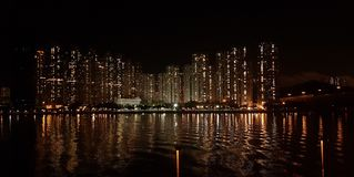 Tsuen Wan Skyline Fotografia Stock Libera da Diritti