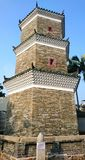 Tsui Sing Lau Pagoda. Pagoda of Gathering Stars is the only surviving ancient pagoda in Hong Kong China. According to the genealogy of the Tang clan of Ping stock photos