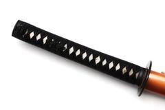 Tsuka: handtag av det japanska svärdet Royaltyfri Fotografi