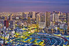 Tsukiji的东京日本 免版税库存图片