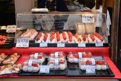 Tsukiji鱼市,东京,日本 库存照片