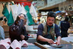 Tsukiji-Fischmarkt Lizenzfreie Stockbilder