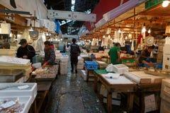 Tsukiji-Fischmarkt Lizenzfreie Stockfotos