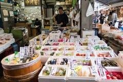 Tsukiji Fischmarkt lizenzfreie stockfotografie