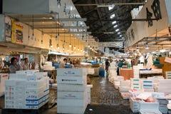 Tsukiji-Fischmarkt in zentralem Tokyo Stockbilder