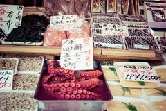 Tsukiji Fish Market in Japan. Royalty Free Stock Photo