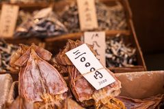 Tsukiji Fish Market in Japan. Royalty Free Stock Image