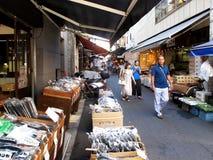 Tsukiji fiskmarknad, Tokyo, Japan Royaltyfri Fotografi