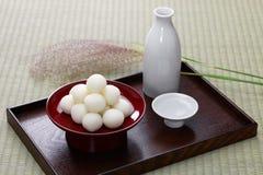 Tsukimi Dango, bolinha de massa japonesa tradicional do arroz Fotografia de Stock