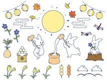 Tsukimi set2 иллюстрация вектора