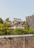 Tsukimi turret of Fukuyama Castle, Japan. National Historic Site. Tsukimi Yagura turret (erected in XVII c., reconstructed in 1966) of Fukuyama Castle in Royalty Free Stock Photos