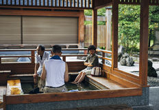 Tsukioka Hot Springs, Niigata, Japan Royalty Free Stock Photography