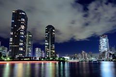 Tsukishima in Tokyo Stock Photo
