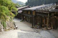 Tsumago,日本可以31日2012年:Nakasendo方式路线,从Magome到Tsumago 免版税库存图片