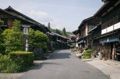 Tsumago,日本可以31日2012年:Nakasendo方式路线,从Magome到Tsumago 库存图片