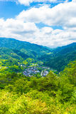 Tsumago Castle Grounds View Landscape Royalty Free Stock Photo