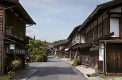 Tsumago, Japan may 31, 2012: Nakasendo way route, from Magome to Tsumago. royalty free stock image