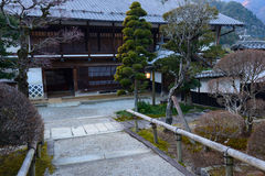 Tsumago-juku在Kiso,长野,日本 库存图片