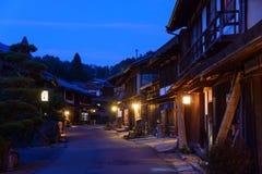 Tsumago-juku在Kiso,长野,日本 图库摄影