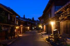 Tsumago-juku在Kiso,长野,日本 免版税库存照片