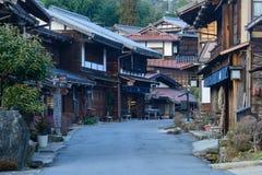 Tsumago-juku i Kiso, Nagano, Japan Arkivfoto