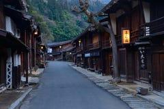 Tsumago-juku i Kiso, Nagano, Japan Arkivbild