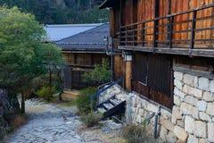 Tsumago-juku i Kiso, Nagano, Japan Royaltyfri Bild