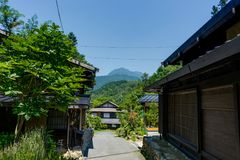 Tsumago Magone Trail Japan Stock Photos