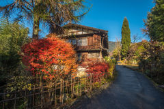 Tsumago, scenic traditional post town in Japan Royalty Free Stock Photo
