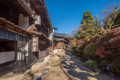 Tsumago, toneel traditionele poststad in Japan Royalty-vrije Stock Fotografie