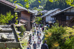 Tsumago Town, Kiso Valley, Japan Royalty Free Stock Images
