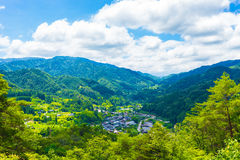 Tsumago Viewpoint Landscape Royalty Free Stock Photo