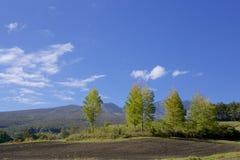 Tsumagoi landskap av den tidiga hösten i Japan Royaltyfri Fotografi