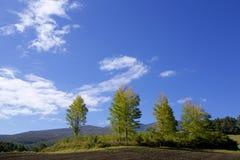 Tsumagoilandschap van de vroege herfst in Japan Royalty-vrije Stock Afbeeldingen