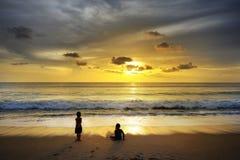 After tsunami. Beach at Khao Lak , Thailand  after tsunami at  26  Dec 2004 Royalty Free Stock Images