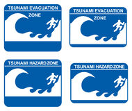 Tsunami vector illustratie