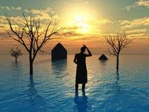 tsunami Fotografering för Bildbyråer