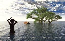 Tsunami ilustração royalty free