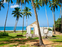 Tsunami aftermath. Remains of the house damaged by Tsunami in 2004, Sri Lanka stock photography