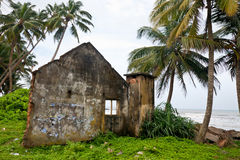 Tsunami aftermath. Remains of the house damaged by Tsunami in 2004, Sri Lanka stock photo