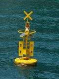 Tsunami alert. Device in the Andaman Ocean installed near Phuket, Thailand stock images