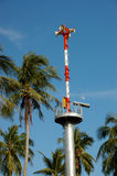 Tsunami Alert System Tower Royalty Free Stock Photography