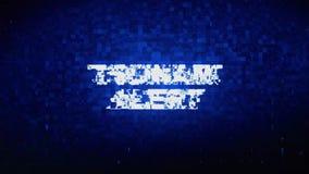 Tsunami Alert Text Digital Noise Twitch Glitch Distortion Effect Error Animation. Tsunami Alert Text Digital Noise Twitch and Glitch Effect Tv Screen Loop vector illustration